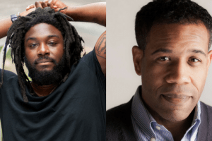 Headshots of Jason Reynolds and Gregory Pardlo